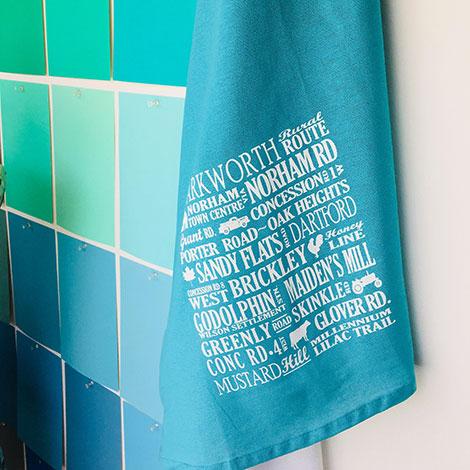Warkworth Authentic tea towel